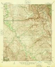 Redington, Arizona 1945 (1945) USGS Old Topo Map Reprint 15x15 AZ Quad 314960