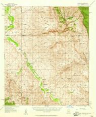 Redington, Arizona 1957 (1958) USGS Old Topo Map Reprint 15x15 AZ Quad 314961