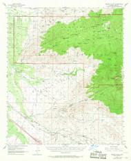 Rincon Valley, Arizona 1957 (1968) USGS Old Topo Map Reprint 15x15 AZ Quad 314967