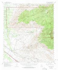 Rincon Valley, Arizona 1957 (1974) USGS Old Topo Map Reprint 15x15 AZ Quad 314968
