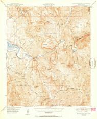 Rockinstraw Mountain, Arizona 1950 (1950) USGS Old Topo Map Reprint 15x15 AZ Quad 314972