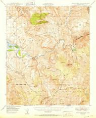 Rockinstraw Mountain, Arizona 1950 (1950) USGS Old Topo Map Reprint 15x15 AZ Quad 314971