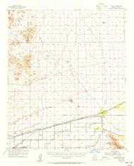 Roll, Arizona 1955 (1956) USGS Old Topo Map Reprint 15x15 AZ Quad 314974