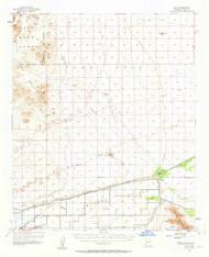 Roll, Arizona 1955 (1963) USGS Old Topo Map Reprint 15x15 AZ Quad 314973