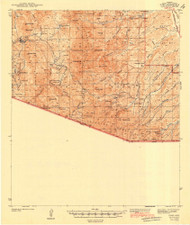 Ruby, Arizona 1942 (1942) USGS Old Topo Map Reprint 15x15 AZ Quad 704270