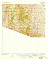 Ruby, Arizona 1942 (1942) USGS Old Topo Map Reprint 15x15 AZ Quad 314977