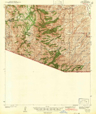 Ruby, Arizona 1942 (1942) USGS Old Topo Map Reprint 15x15 AZ Quad 314976
