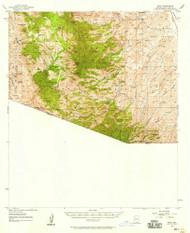 Ruby, Arizona 1957 (1958) USGS Old Topo Map Reprint 15x15 AZ Quad 314980