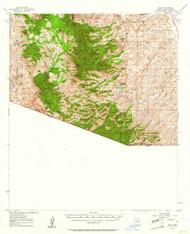 Ruby, Arizona 1957 (1961) USGS Old Topo Map Reprint 15x15 AZ Quad 314979