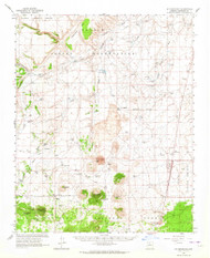 S P Mountain, Arizona 1962 (1964) USGS Old Topo Map Reprint 15x15 AZ Quad 315066