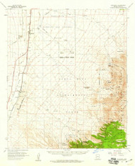 Sahurita, Arizona 1958 (1959) USGS Old Topo Map Reprint 15x15 AZ Quad 314989