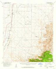 Sahurita, Arizona 1958 (1961) USGS Old Topo Map Reprint 15x15 AZ Quad 314988