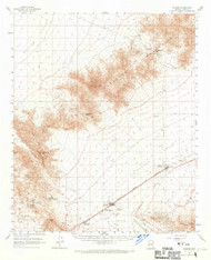 Salome, Arizona 1961 (1970) USGS Old Topo Map Reprint 15x15 AZ Quad 314995