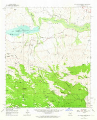 San Carlos Reservoir, Arizona 1962 (1963) USGS Old Topo Map Reprint 15x15 AZ Quad 315000