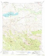 San Carlos Reservoir, Arizona 1962 (1971) USGS Old Topo Map Reprint 15x15 AZ Quad 315001