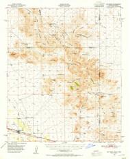 San Simon, Arizona 1950 (1955) USGS Old Topo Map Reprint 15x15 AZ Quad 315004
