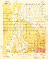 San Vicente, Arizona 1948 (1948) USGS Old Topo Map Reprint 15x15 AZ Quad 315009