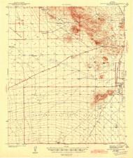 San Xavier Mission, Arizona 1943 (1943) USGS Old Topo Map Reprint 15x15 AZ Quad 704368