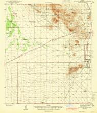 San Xavier Mission, Arizona 1943 (1943) USGS Old Topo Map Reprint 15x15 AZ Quad 315011