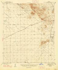 San Xavier Mission, Arizona 1943 (1947) USGS Old Topo Map Reprint 15x15 AZ Quad 315012