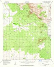 San Xavier Mission, Arizona 1957 (1961) USGS Old Topo Map Reprint 15x15 AZ Quad 315015