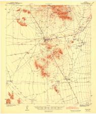 Sells, Arizona 1943 (1943) USGS Old Topo Map Reprint 15x15 AZ Quad 704407