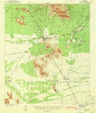 Sells, Arizona 1943 (1943) USGS Old Topo Map Reprint 15x15 AZ Quad 315020