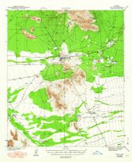 Sells, Arizona 1943 (1948) USGS Old Topo Map Reprint 15x15 AZ Quad 315022