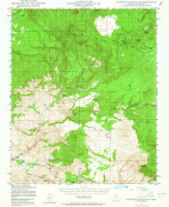 Sheridan Mountain, Arizona 1947 (1965) USGS Old Topo Map Reprint 15x15 AZ Quad 315029