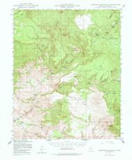 Sheridan Mountain, Arizona 1947 (1978) USGS Old Topo Map Reprint 15x15 AZ Quad 315031