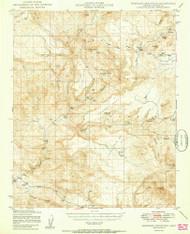 Sheridan Mountain, Arizona 1950 (1950) USGS Old Topo Map Reprint 15x15 AZ Quad 315033