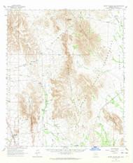 Sikort Chuapo Mountains, Arizona 1963 (1964) USGS Old Topo Map Reprint 15x15 AZ Quad 315048