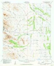 Silver Bell Peak, Arizona 1959 (1961) USGS Old Topo Map Reprint 15x15 AZ Quad 315051
