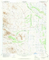 Silver Bell Peak, Arizona 1959 (1965) USGS Old Topo Map Reprint 15x15 AZ Quad 315050
