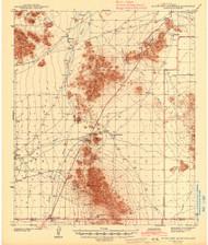 Silver Reef Mountains, Arizona 1942 (1942) USGS Old Topo Map Reprint 15x15 AZ Quad 704493