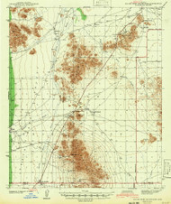 Silver Reef Mountains, Arizona 1942 (1942) USGS Old Topo Map Reprint 15x15 AZ Quad 315053