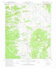Simmins, Arizona 1947 (1964) USGS Old Topo Map Reprint 15x15 AZ Quad 315057