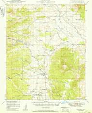 Simmins, Arizona 1950 (1950) USGS Old Topo Map Reprint 15x15 AZ Quad 315058