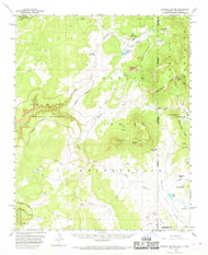 Sonsela Buttes, Arizona 1955 (1969) USGS Old Topo Map Reprint 15x15 AZ Quad 315062