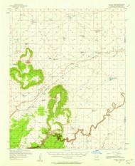 Sunset Pass, Arizona 1955 (1958) USGS Old Topo Map Reprint 15x15 AZ Quad 315080