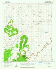 Sunset Pass, Arizona 1955 (1963) USGS Old Topo Map Reprint 15x15 AZ Quad 315081