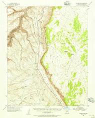 Tanner Wash, Arizona 1954 (1956) USGS Old Topo Map Reprint 15x15 AZ Quad 315093