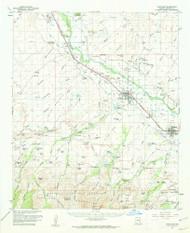 Thatcher, Arizona 1960 (1960) USGS Old Topo Map Reprint 15x15 AZ Quad 315095
