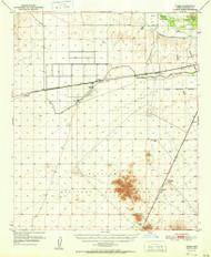 Theba, Arizona 1951 (1951) USGS Old Topo Map Reprint 15x15 AZ Quad 315098