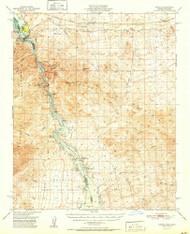 Topock, Arizona 1951 (1951) USGS Old Topo Map Reprint 15x15 AZ Quad 315110