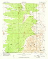 Tortolita Mountains, Arizona 1959 (1960) USGS Old Topo Map Reprint 15x15 AZ Quad 315112