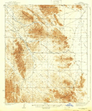 Trigo Peaks, Arizona 1939 (1939) USGS Old Topo Map Reprint 15x15 AZ Quad 315118