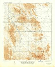 Trigo Peaks, Arizona 1939 (1947) USGS Old Topo Map Reprint 15x15 AZ Quad 315119