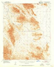 Trigo Peaks, Arizona 1954 (1955) USGS Old Topo Map Reprint 15x15 AZ Quad 315121