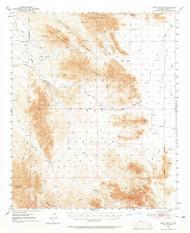 Trigo Peaks, Arizona 1954 (1965) USGS Old Topo Map Reprint 15x15 AZ Quad 315120